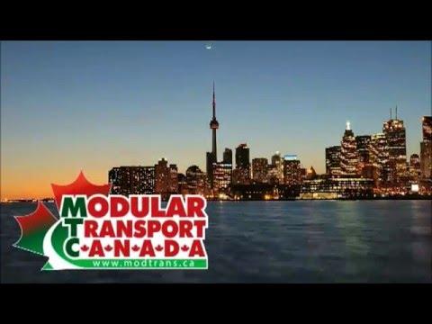 Modular Transport Canada moving buildings for PanAm 2015