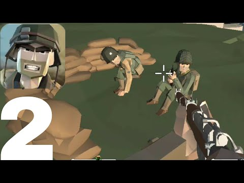 OMAHA BEACH || World War Polygon Android Gameplay - Walkthrough