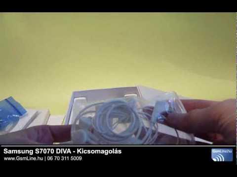 Samsung S7070 Diva - kicsomagolás | www.gsmline.hu