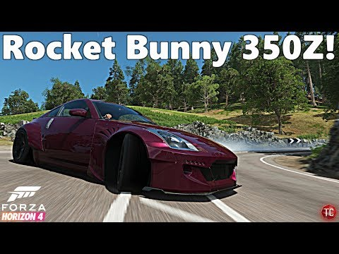 Forza Horizon 4: Rocket Bunny 350Z Drift Car, FULL BUILD!