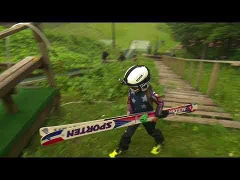 American Countryside - Kids Ski Jumping