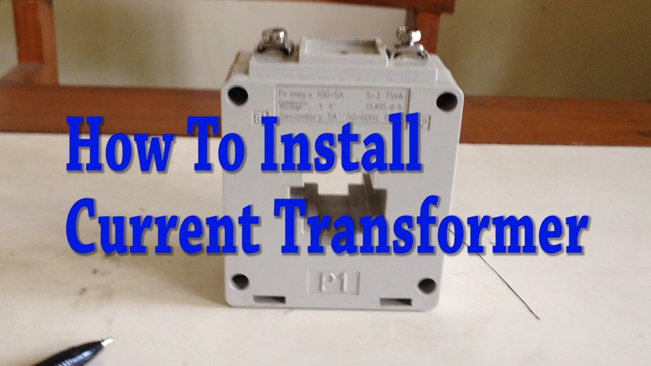 hight resolution of current transformer installation