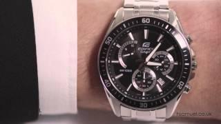 Casio Edifice Men's Black Dial Stainless Steel Watch EFR-552D-1AVUEF