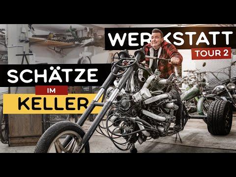 VERRÜCKTE SCHÄTZE IM KELLER   Mofa Tandem, Prototypen, Oldtimer   Werkstatt Tour