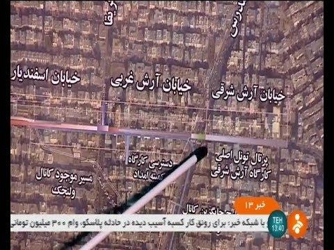 Iran made Tunnel under Vali-Asr street, Tehran city, under construction