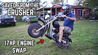 Crusher Mini Bike Build | $20 Mini Bike Gets a Tillotson 225!