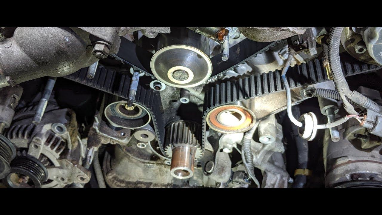 Toyota Lexus 4 7 Timing Belt Water Pump Replacement Part 1 Youtube