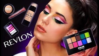 NEW FROM REVLON! | Full Face Of REVLON | Color Charge | Drugstore Makeup Tutorial | Victoria Lyn