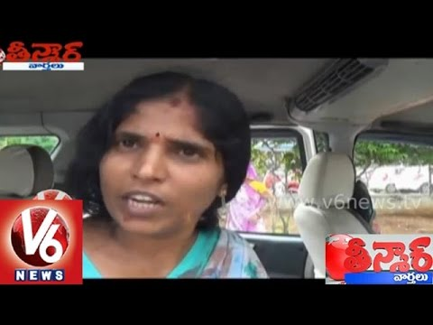 Hyderabad Thieves Attacks On Housewife  || Teenmaar News  || V6 News