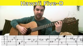 Tutorial: Hawaii Five-O - Fingerstyle Guitar w/ TAB