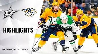 NHL Highlights | Stars @ Predators 3/5/20