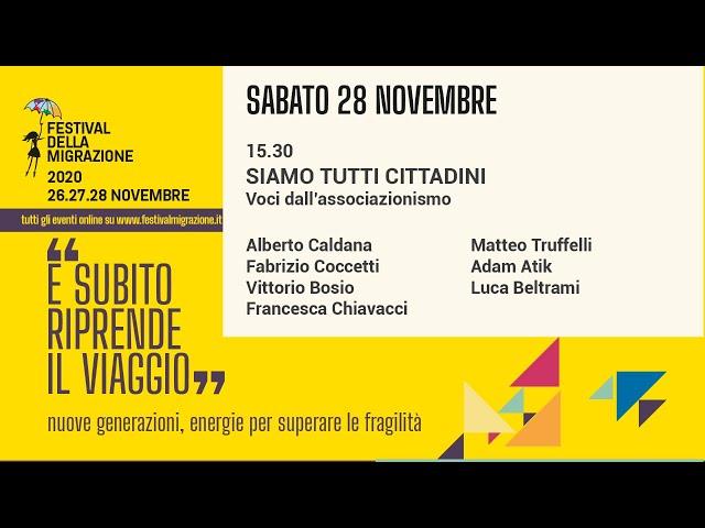 Seconda sessione Festival della Migrazione 2020 // Sabato 28 novembre