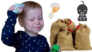 РАЗВИТИЕ МЫШЛЕНИЯ. Что в мешке? - развивающая игра для РАЗВИТИЯ МЫШЛЕНИЯ и осязания детей