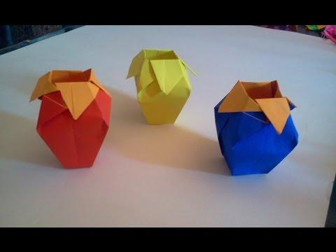 how to make square container oregami