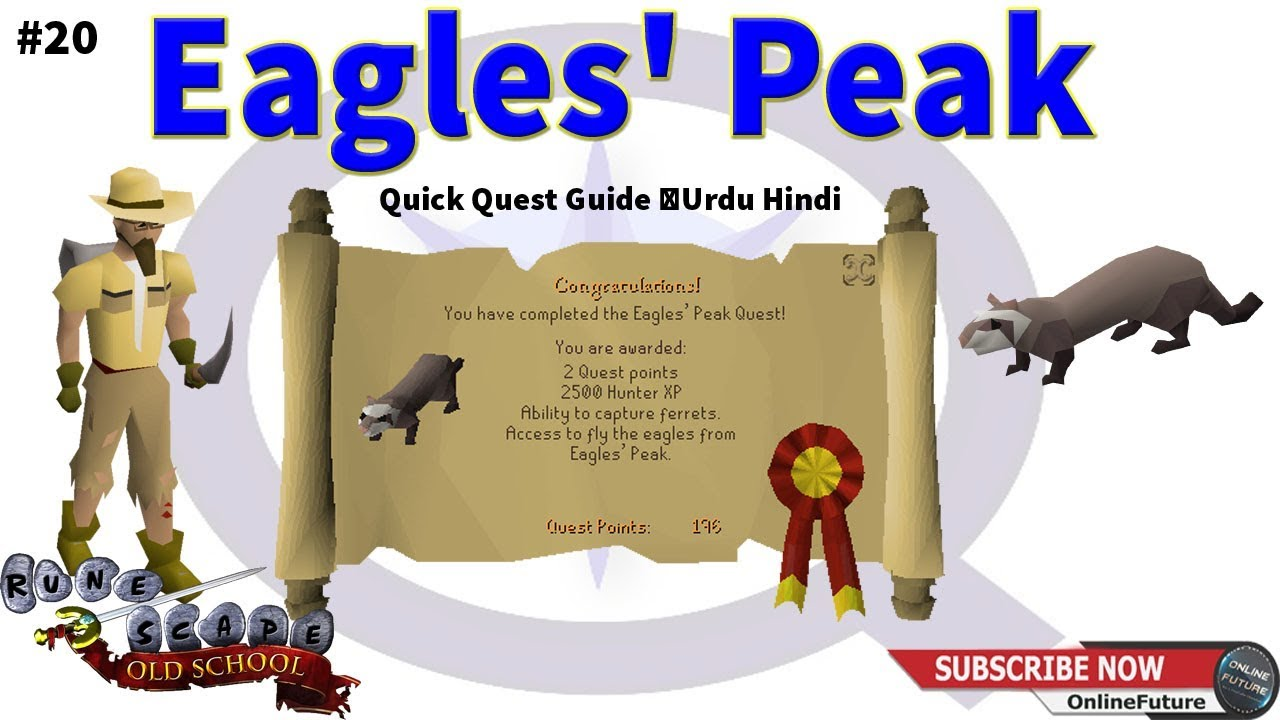 Osrs How To Complete Eagles Peak Quest 2020 Quick Quest Guide Urdu Hindi Youtube Head over to eagles' peak. osrs how to complete eagles peak quest 2020 quick quest guide urdu hindi