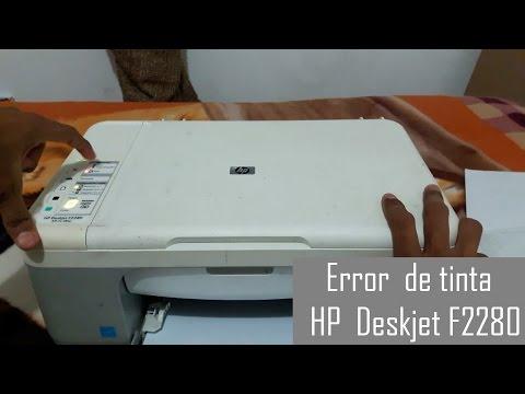 Error de tinta Impresora HP Deskjet F2280 (Solucionado) By:KrristIan