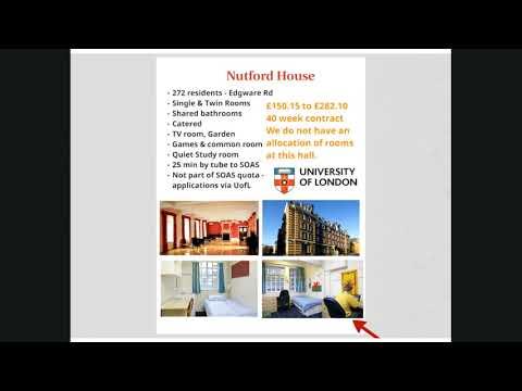 Accommodation Webinar - SOAS University of London
