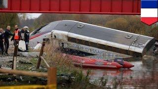 Высокоскоростной поезд сошёл с рельсов на востоке Франции; 10 погибших