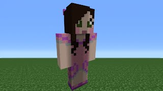 Minecraft Tutorial: How To Make A SuperGirlyGamer Statue (GamingWithJen)