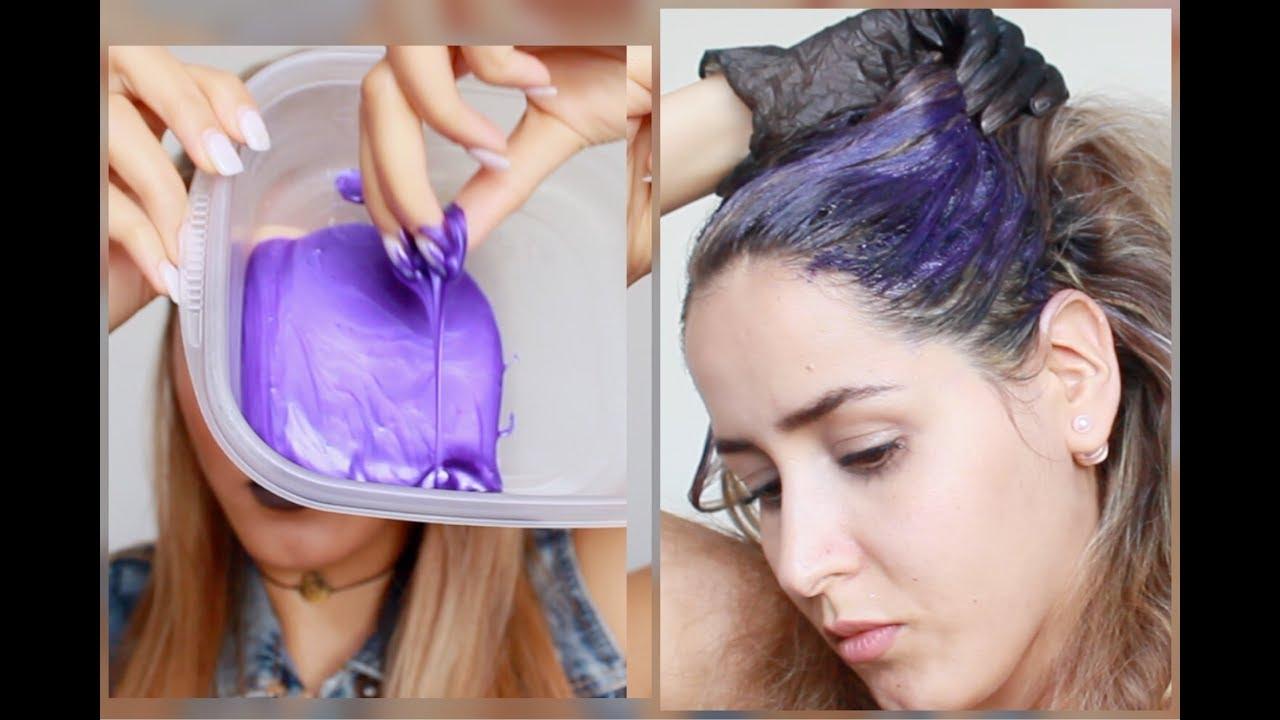 هل الشامبو البنفسجي يزيل اللون البرتقالي و الأصفر من الشعر Purple Shampoo Youtube