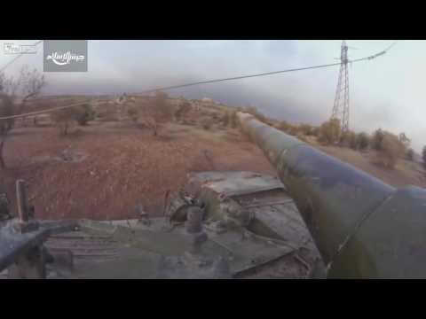 SYRIAN CIVIL WAR: Jaish Al Islam FPV Tank Footage during Aleppo Offensive