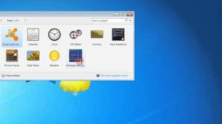 How To Put a Clock And Calendar On Your Desktop On Windows 7