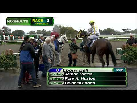 video thumbnail for MONMOUTH PARK 10-20-19 RACE 3