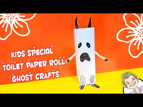 Kids Special Toilet Paper Roll Ghosts craft | Halloween Craft