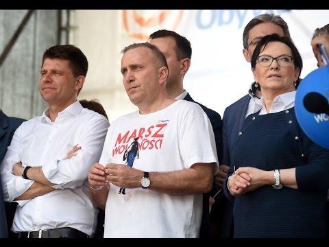 Marsz wolności w wykonaniu partii zniewolenia PO  Nowoczesnej
