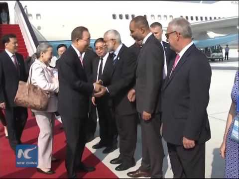 UN Secretary-General Ban Ki-moon arrives in China for G20 summit