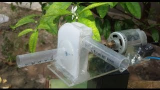 Repeat youtube video How to Make a Powerful WATER PUMP at Home