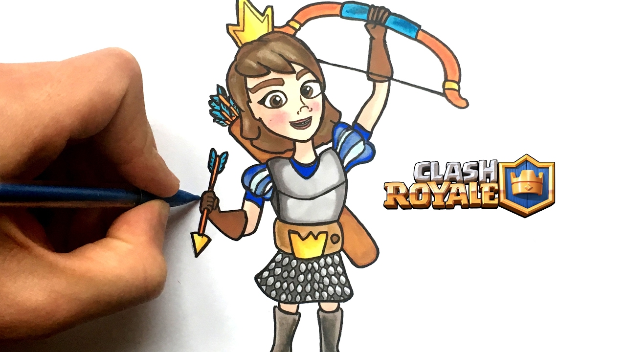 Dessin Princesse Clash Royale Youtube