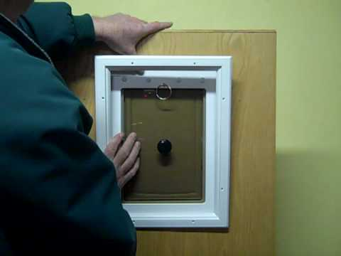 Simple way to install this airtight dog door for your pet - Exterior door with pet door installed ...