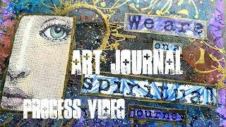 Art Journal process video - Spiritual Journey