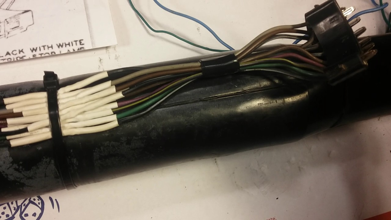 1967 1968 cadillac tilt telescopic steering column turn signal switch wiring harness repair [ 1280 x 720 Pixel ]