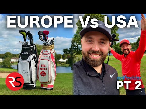 EUROPE (RICK) Vs USA (PETE) - 2nd Hand Golf Club Challenge Pt 2
