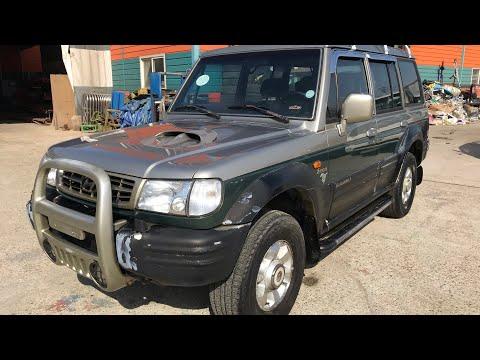 2002 HYUNDAI GALLOPER II 2U447932 (FOB $2,300 USD)-M/T+DIESEL+4WD+TURBO INTERCOOLER