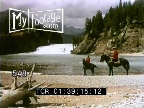ROYAL CANADIAN MOUNTED POLICE PATROL THE ROCKIES 1950s