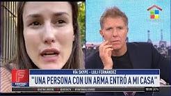 Violento robo a Luli Fernández | Se llevaron joyas, dinero y los apuntaron con armas