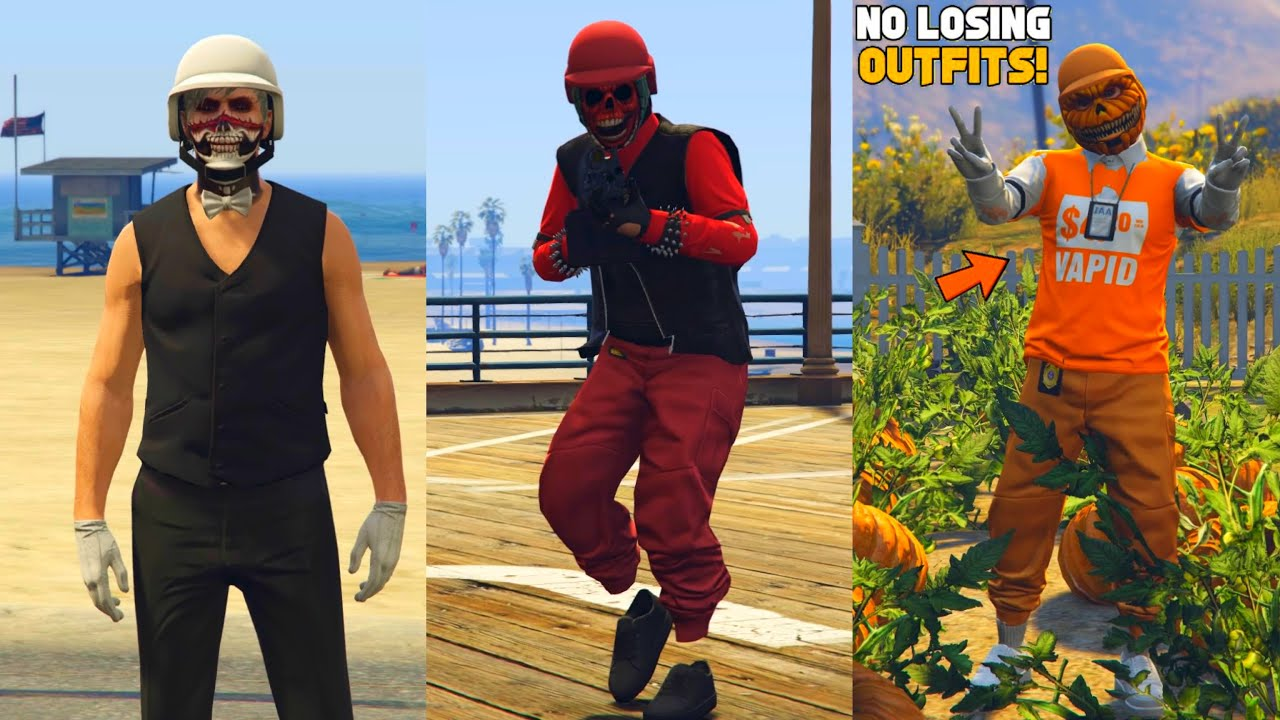 3 EASY HALLOWEEN OUTFITS! USING CLOTHING GLITCHES AFTER PATCH 1.57! (Gta 5 Halloween Update)