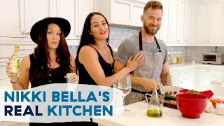 Nikki Bella + Artem Show Us Their Home Kitchen With Brie Bella