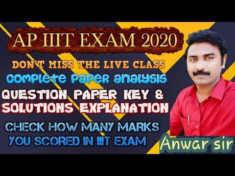 Iiit Exam Question Paper Key Explanation Live   Iiit Exam Analysis   Iiit Result   Iq Academy