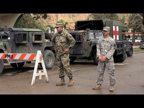 Puerto Ricans Protest Trump's Visit, Denounce Militarization Amid Lack of Aid Distribution
