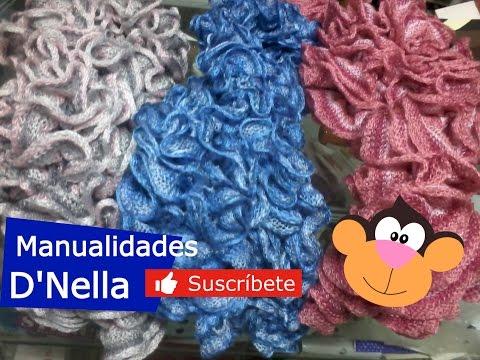 bufandas tejidas a mano - YouTube