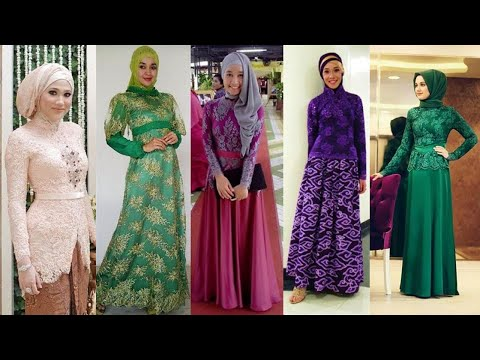 Model Kebaya Muslim Modern Pesta Terbaru Youtube