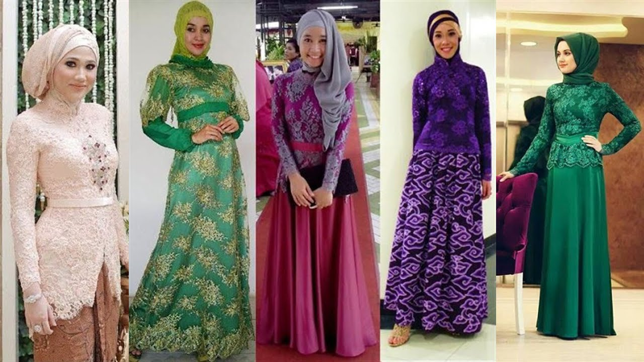 Model Kebaya Muslim Modern Youtube Model Gamis Brokat