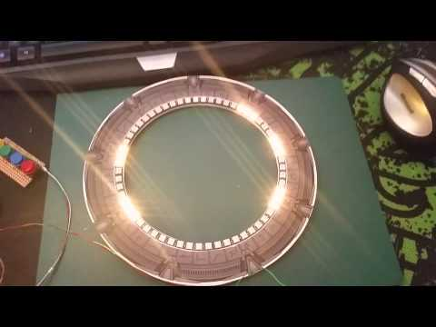 Led Stargate clock dial