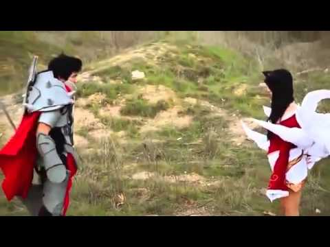 Darius vs Ahri support by Ezreal, Draven, Lux (Real life version)