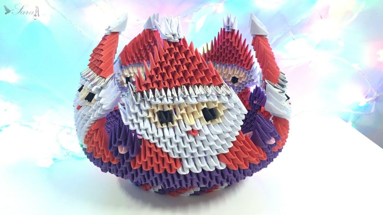 How to make 3d origami bowl santa claus part 3 youtube jeuxipadfo Images