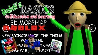 Baldi 2 Camping RP on ROBLOX with CallMeCarson216 and TravisPlushProductions